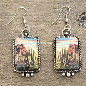 Cactus Desert Portrait Earrings